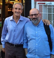 Club Secretary Dan Aspromonte with Documentarian Vincenzo Mancuso this summer in San Francisco