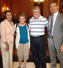 Congresswoman Nancy Pelosi, Ramona, Mike, Congressman Eric Swalwell