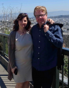 Lara Olivetti and Rickard Olseke enjoying a pleasant, sunny day in San Francisco